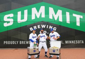 Summit Beer gifting Summit Coolers to the Saint Paul Saints for their 25th anniversary