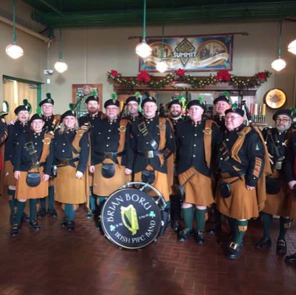 Brian Boru Irish Pipe Band at Summit Brewing Co.