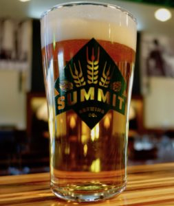 Summit Beer in Pint Glass