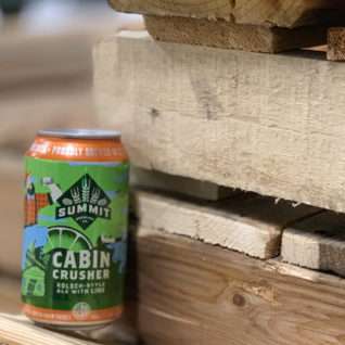 Summit Cabin Crusher Kolsh-Style Ale with Lime on Pallet