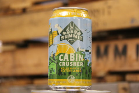 Summit Cabin Crusher Kolsch-Style Ale with Lemon Can