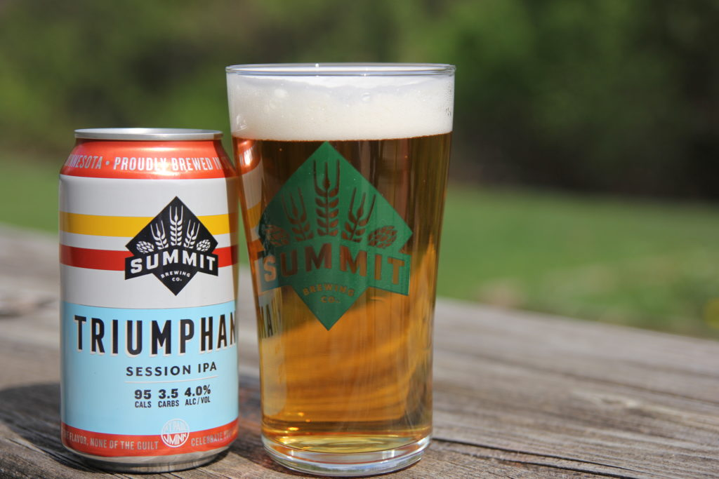 Summit Triumphant Session IPA 12oz Can and Pour Shot