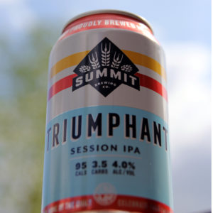 12oz can of Summit Triumphant Session IPA