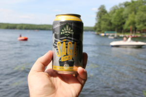 Summit Saga IPA, brewed with Centennial hops, in 12oz can by lake