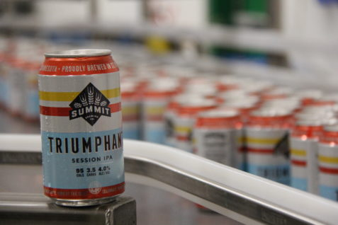 Triumphant Session IPA Can on Line