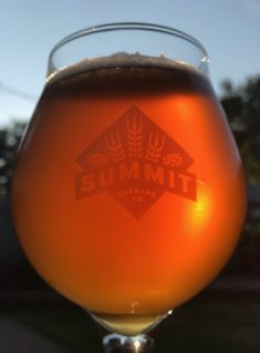 Amber beer in Summit Brewing Co. tulip