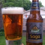Old Saga IPA Bottle Packaging and Pour Shot
