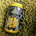Summit Sága IPA, brewed with Centennial hops, sitting in Hops