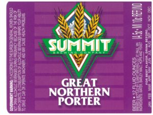 Great Northern Porter Old Label