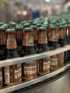 Oatmeal Stout bottles on line for first time