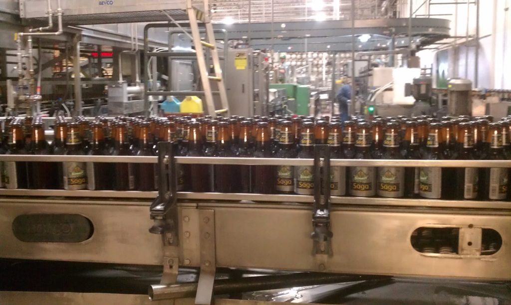 Summit Saga IPA being bottled for the first time