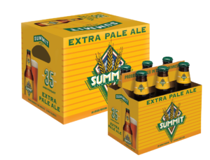 Extra Pale Ale Retro Packaging in 12pk bottle box and 6pk bottle carrier
